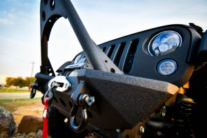 Midnight Edition Jeep Tow Hook and Front Bumper