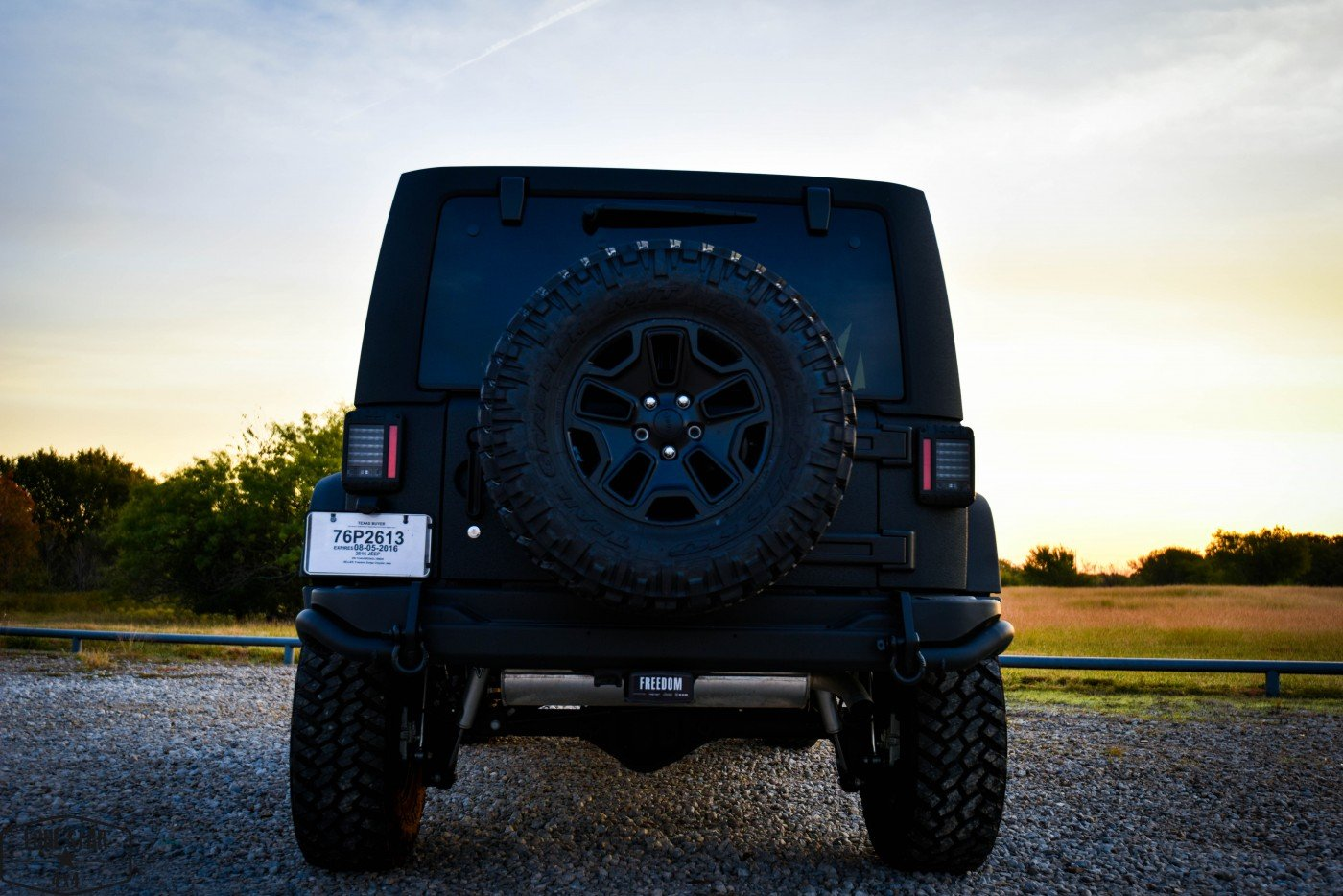 Midnight Edition Jeep Rear View