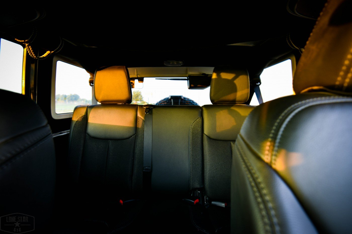 Midnight Edition Jeep Interior Rear Seating