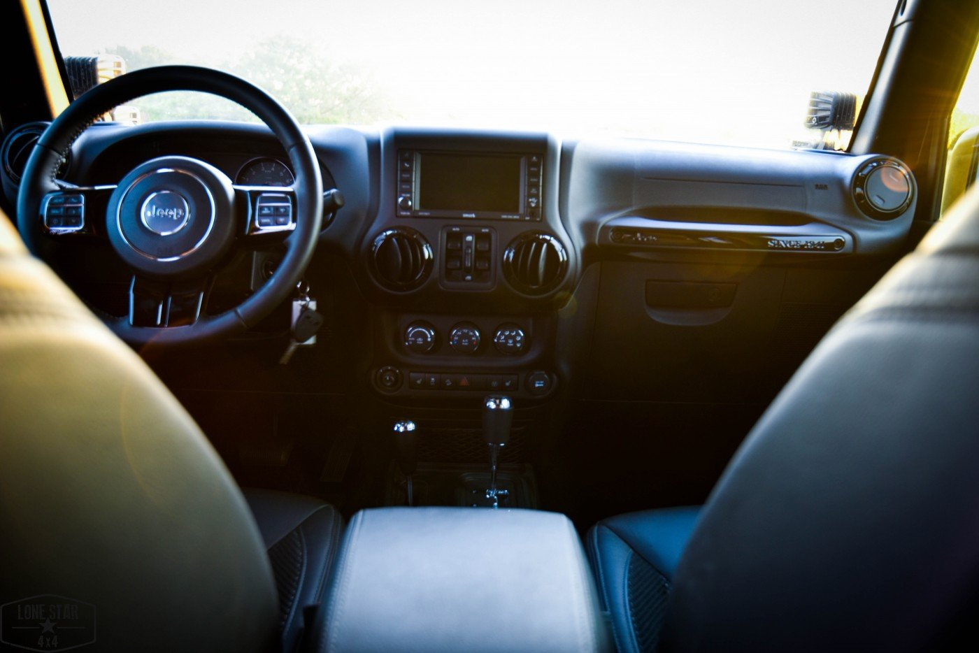 Midnight Edition Jeep Interior Front Seat and Dashboard
