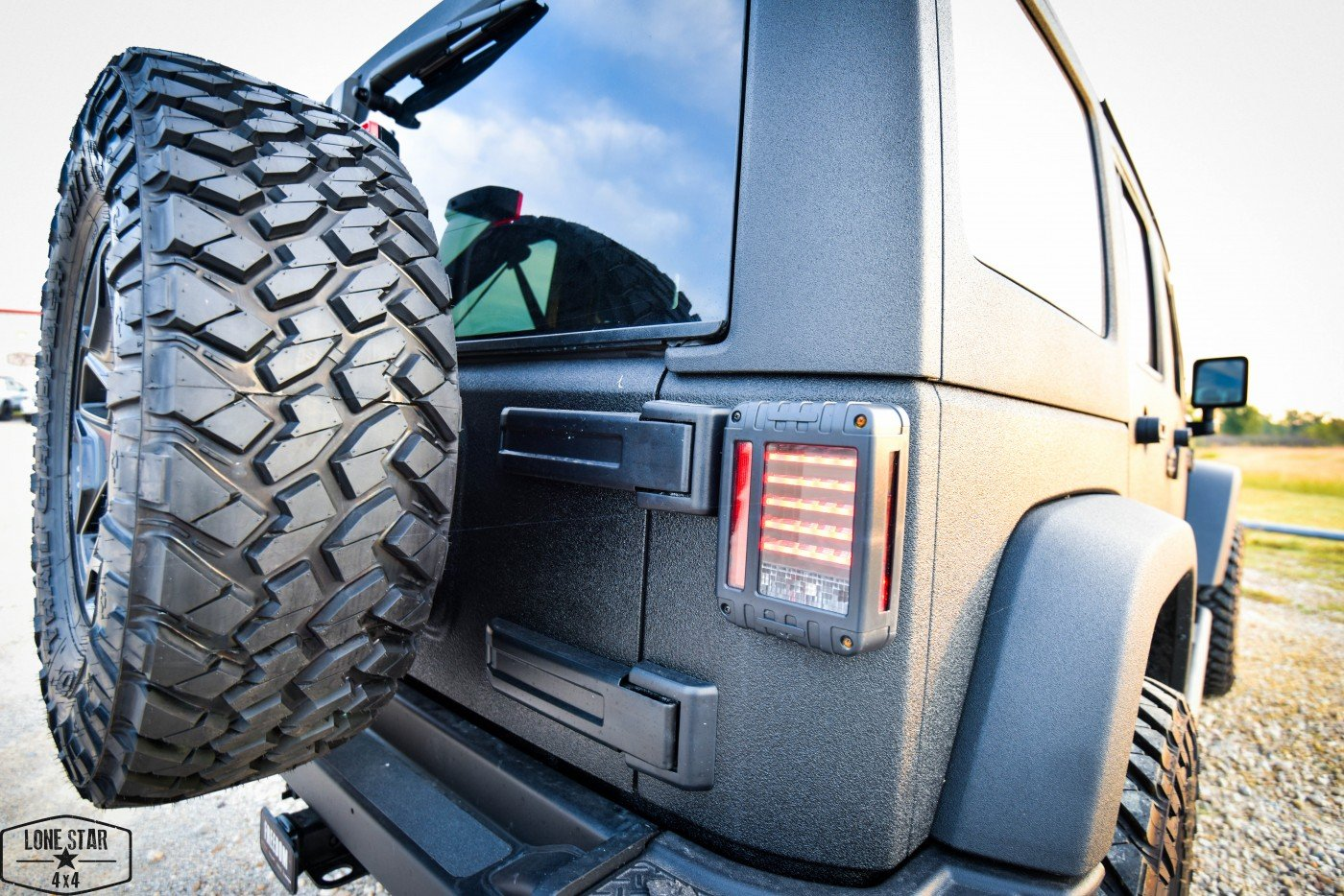 Midnight Edition Jeep Tail Light and Spare Tire