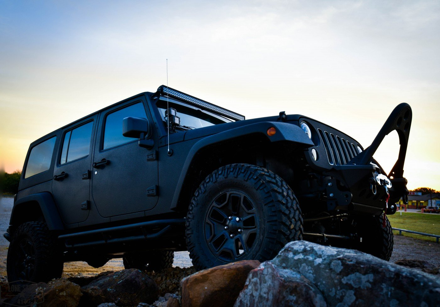Midnight Edition Jeep Passenger Side Front View
