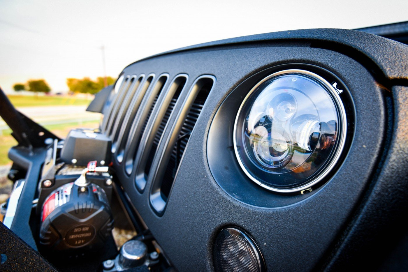 Midnight Edition Jeep Headlight Details