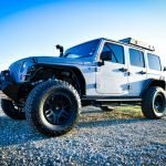 Silver Custom Jeep Wrangler Drivers Side