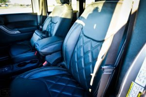 Silver Custom Jeep Wrangler Interior Front Leather Seats
