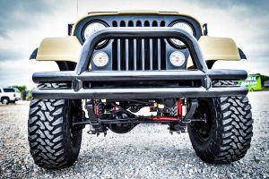 1983 CJ7 Jeep Resto Mod Front View and Grille