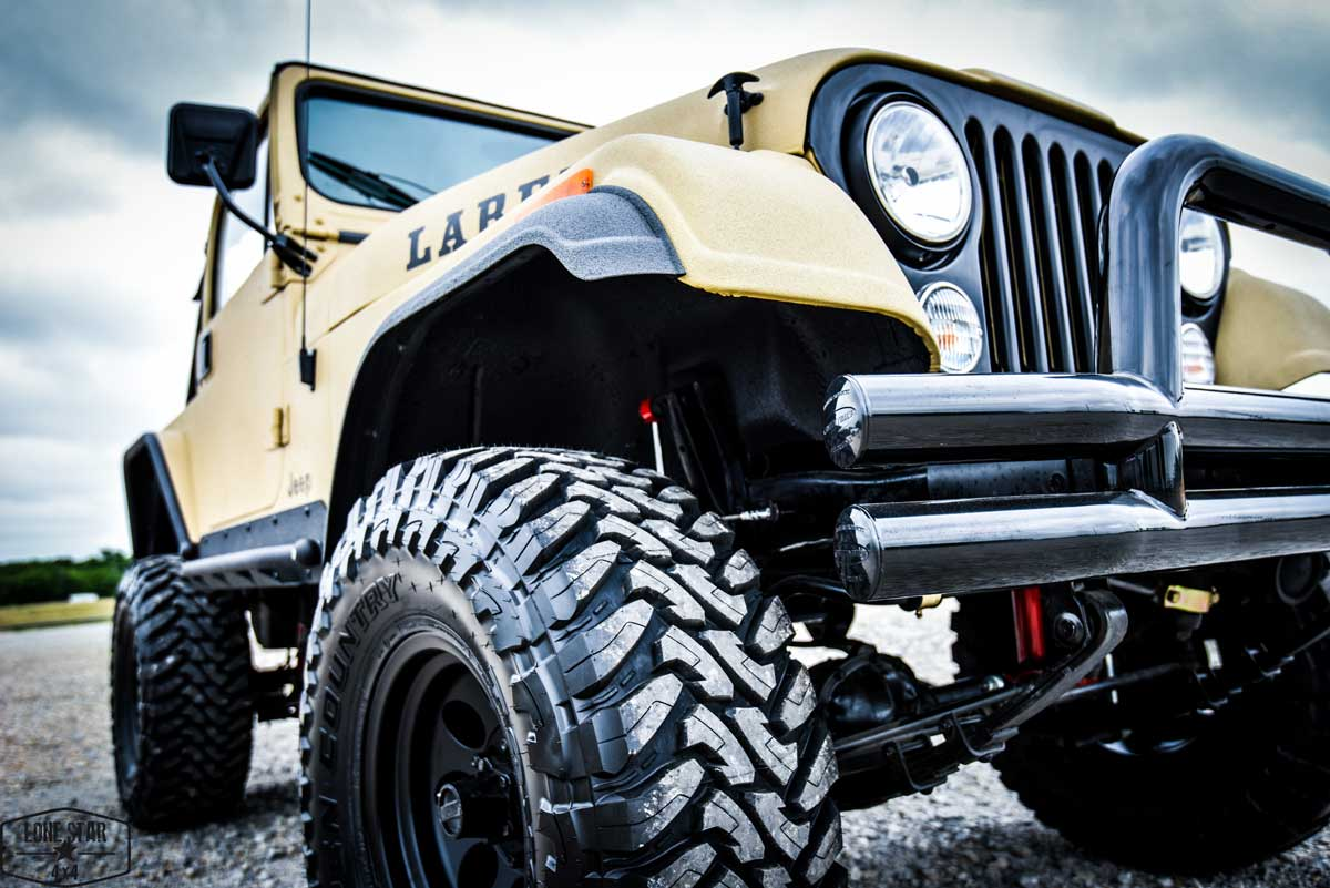 1983 CJ7 Jeep Resto Mod Front Passenger Side View