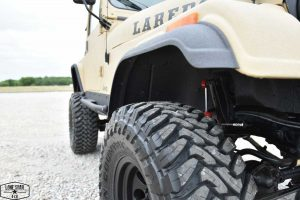 1983 CJ7 Jeep Resto Mod Tire and Fender Detail View